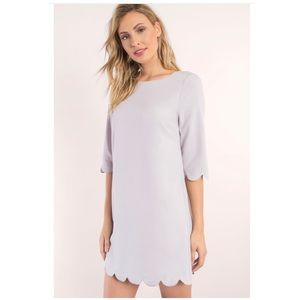 TOBI Lilac Sweetly Scalloped Shift Dress Small